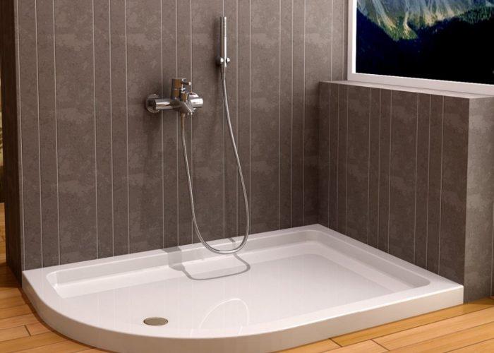 asimetrik flat duş tekneleri